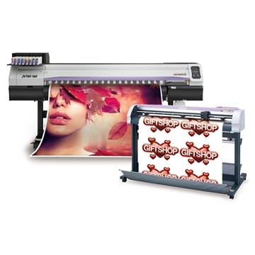 Picture of Mimaki JV150-130/CGFXII-130 Bundle - w/Inks & Take-Up System