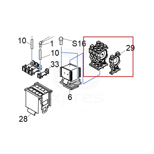 Picture of Roland Damper (BN-20/RA/RE/RF/RT/VS/XF and XR 1000012719)