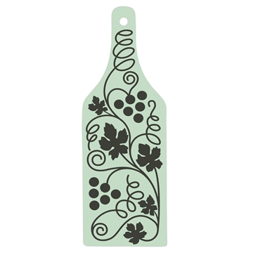 Picture of Glass Cutting Board - Wine Bottle Shape - 31.7cm x 11.3cm