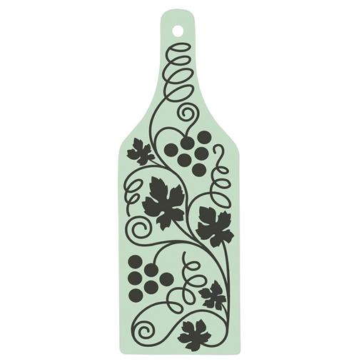 Picture of Glass Cutting Board - Wine Bottle Shape - 31.7cm x 11.3cm