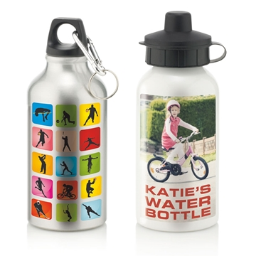 Picture of Aluminium Water Bottle With 2 Cap Styles - 400ml