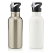 Picture of Stainless Steel Water Bottle With Straw 600ml