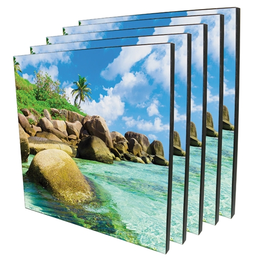 Picture of ChromaLuxe Square Photo Panel - Wood - 294.6mm (Pack of 9)