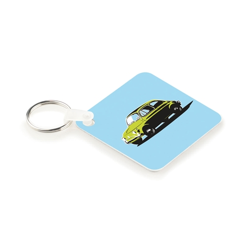 Picture of UniSub Aluminium Square Key Tag, Rings & Tabs Pack of 50