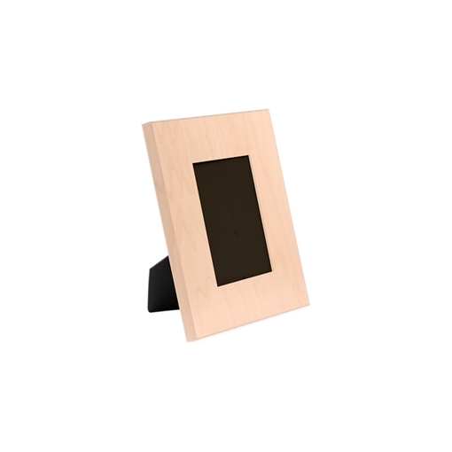 "Picture of Unisub Maple Matte Clear Natural Wood Picture Frame - 4""x 6"""