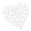 Picture of Unisub Hardboard 23 Piece Jigsaw Puzzle Heart Pack of 10
