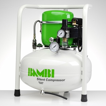 Picture of Bambi BB24V Silent Compressor (24L) Oil Lubricated