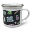 Picture of Enamel Cup with Stainless Silver Rim 12oz