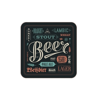Picture of Unisub Square Hardboard Coaster - 9cm x 9cm (Pack of 40)