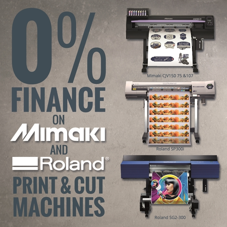 0% Finance Print & Cut Offers