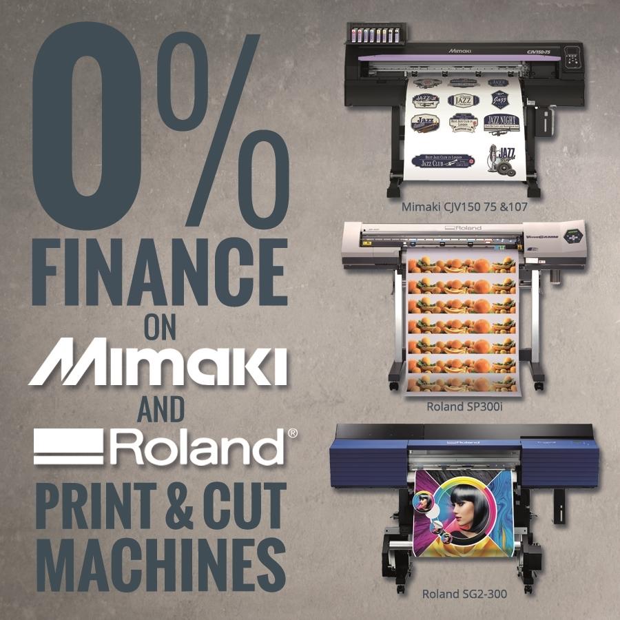 0% Finance Print & Cut Offers