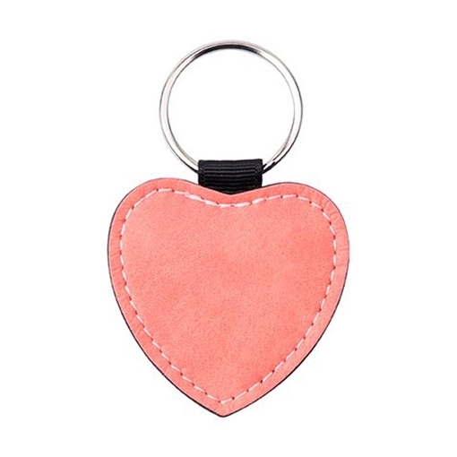 Picture of PU Leather Effect Key Ring Single Sided - Heart