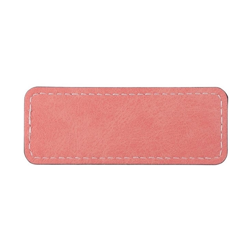 Picture of PU Leather Effect Name Badge Rectangle 80 x 30mm
