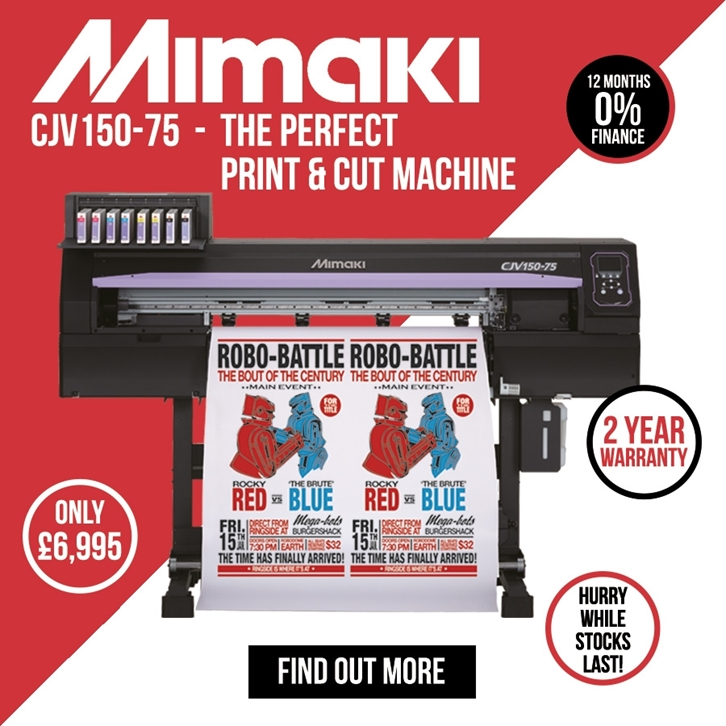 0% Finance on the Mimaki CJV150-75