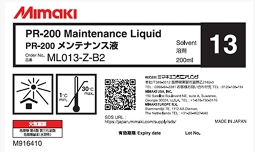 Picture of Cleaning Fluid for Cleaning Primer Print Heads UV ML013-Z-B2