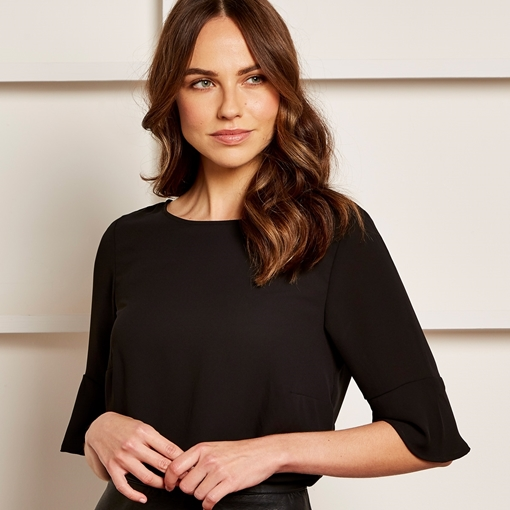 Picture of Clayton & Ford Fluted Sleeve Top
