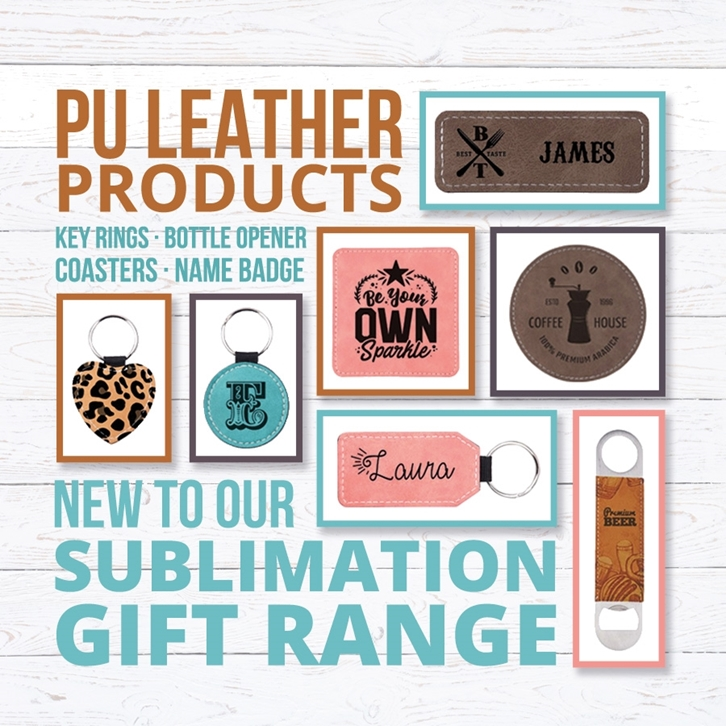 NEW PU Leather Products Added to our Sublimation Gift Range