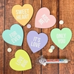 Picture of Unisub Hardboard Heart Shaped Coaster - Cork Back Pack of 40