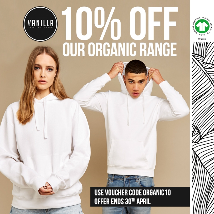 10% off Our Organic Range