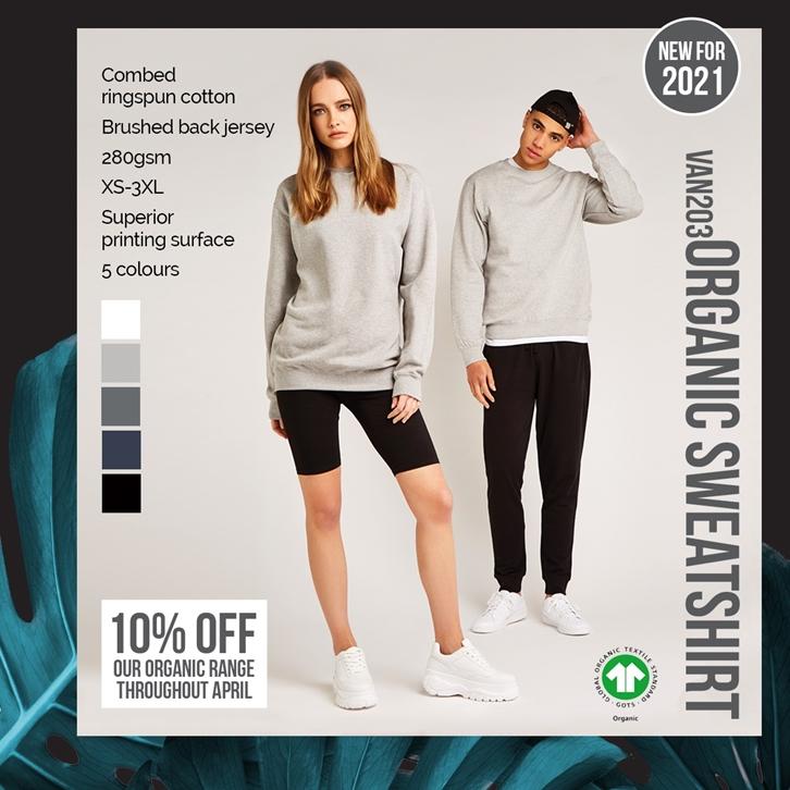 Introducing the VAN203 Vanilla Men's Organic Sweatshirt