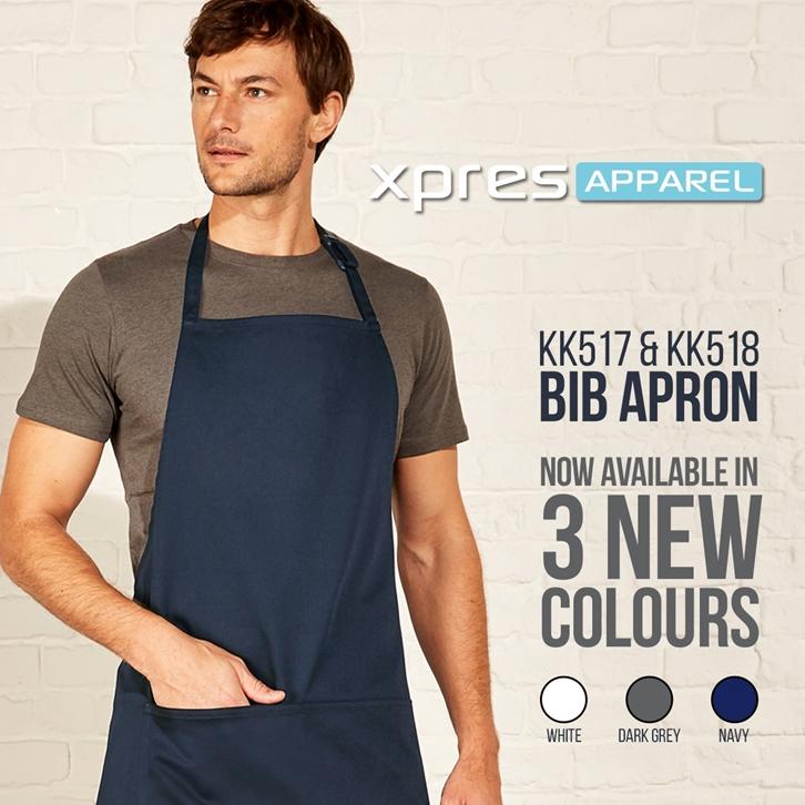 New Colours for our KK517 & KK518 Bib Aprons