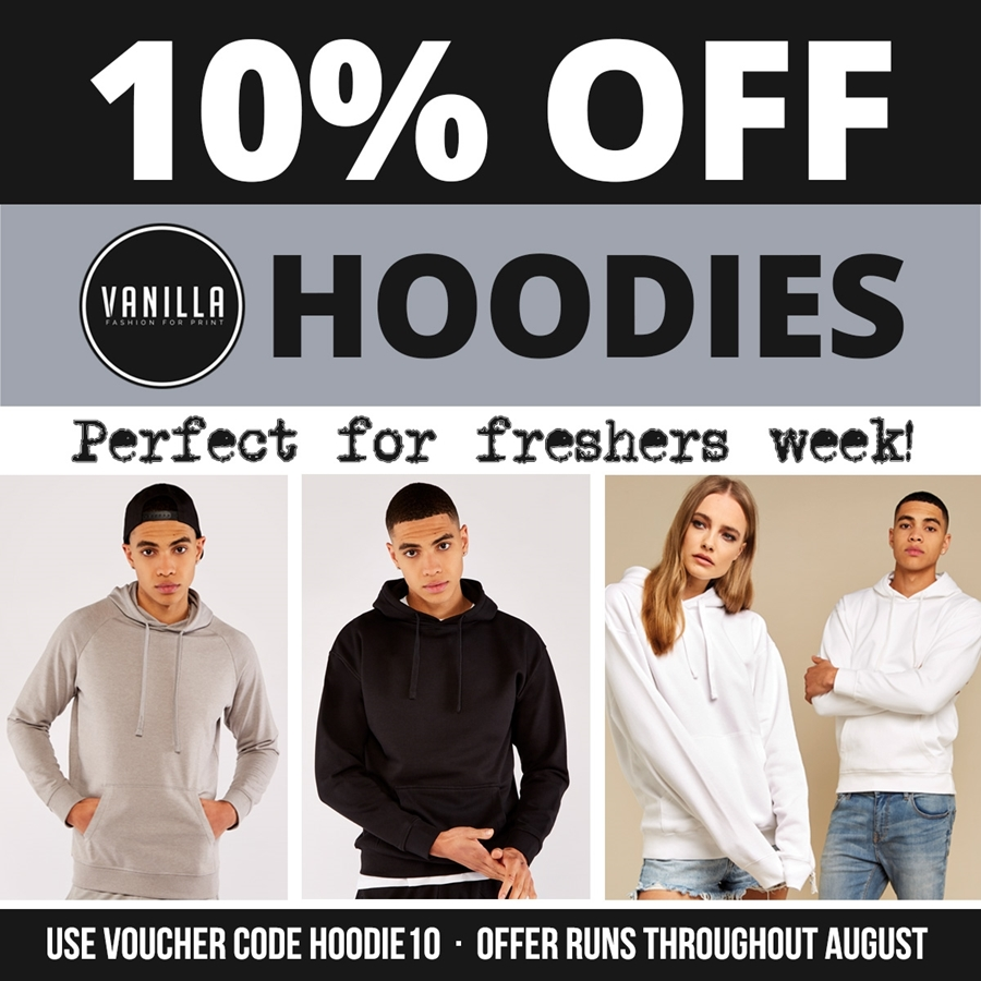 Fresher Favourites   Save 10% on Hoodies