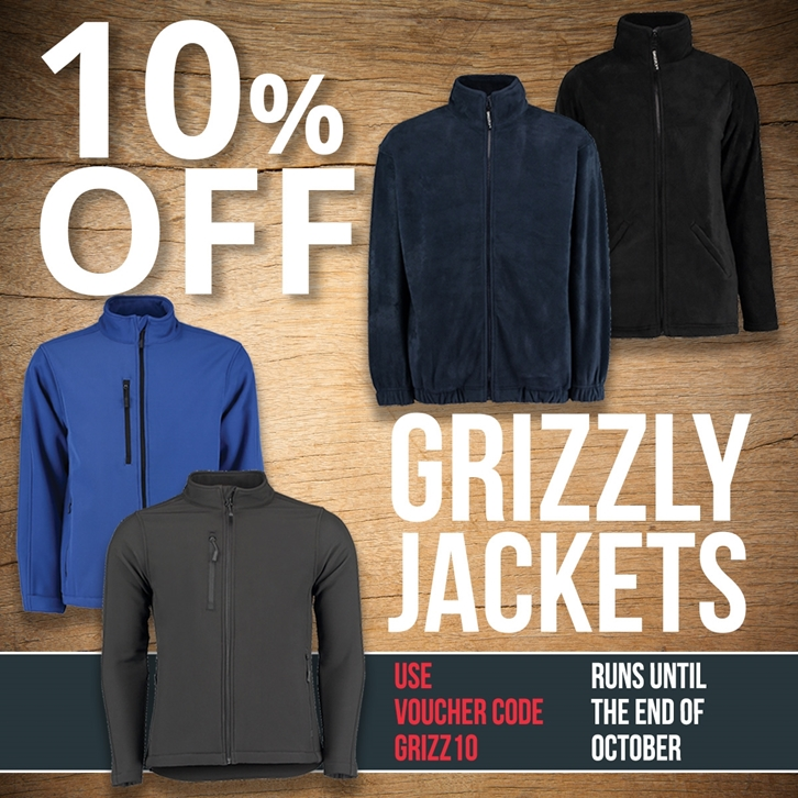 Save 10% on Grizzly Jackets and Fleeces