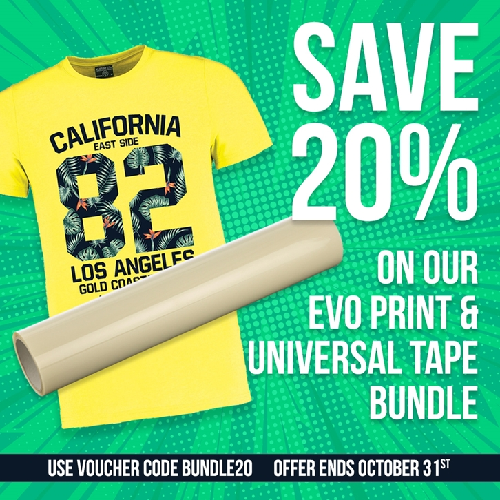 20% off Evolution Print and Universal Application Tape